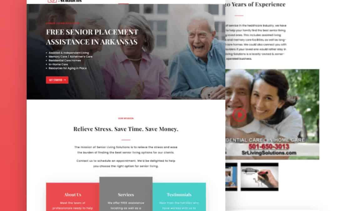 Site Launch: Senior Living Website for Senior Living Solutions