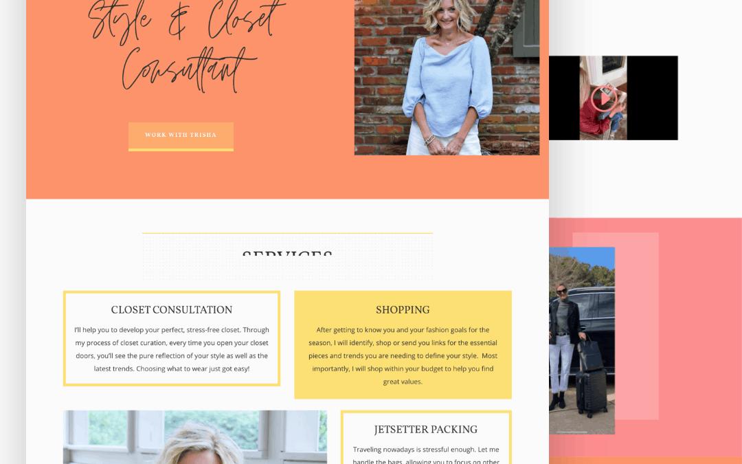 Site Launch: Personal Stylist Website for Trisha Richardson Style