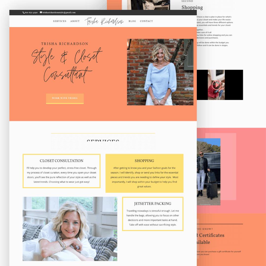 Personal Stylist Website Header