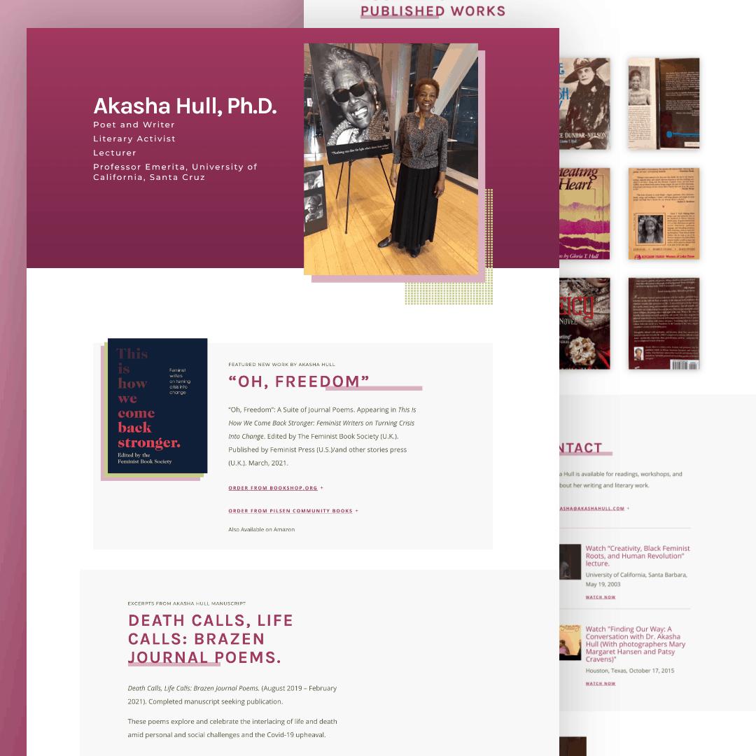 Akasha Hull Author Website Design Launch