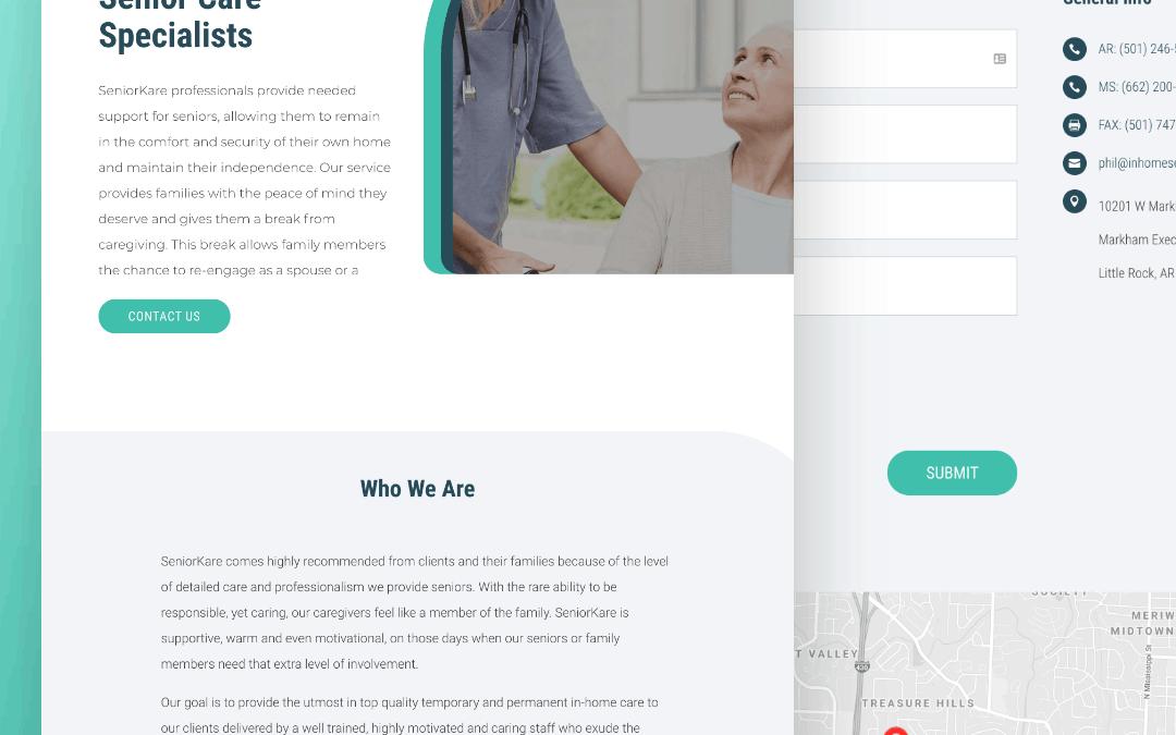 Site Launch: SeniorKare, Senior Living Services